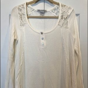 American Rag Button-up Henley top-NWOT-so cute